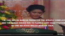 Imelda Marcos prediction China will gobble up Spratly