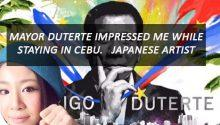 Japanese painter's Duterte artwork