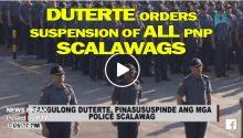 Duterte orders suspension of police scalawags