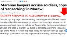 Soldiers response to allegation of stealing money from Marawi residents