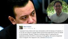 Mans Carpio responds smuggling allegation of Trillanes