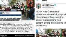 ABS-CBN speaks up on allegation own reporter rehearsing anti-Marcos protesters