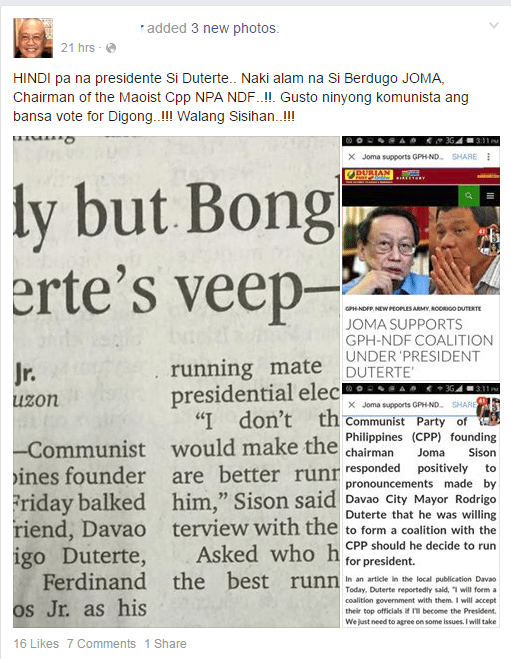 Alcover on Duterte